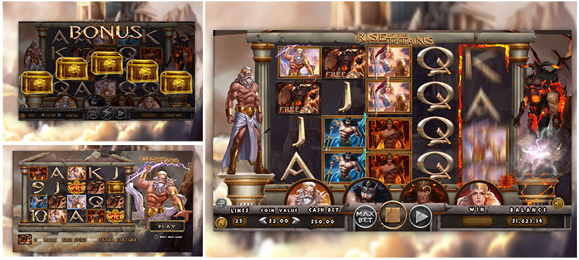Dragon Gaming Slots Game Rise of the Titans