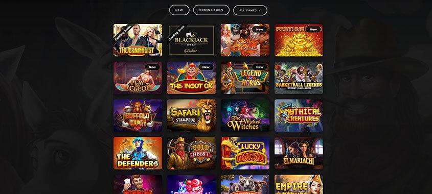 Dragon Gaming Game Selection